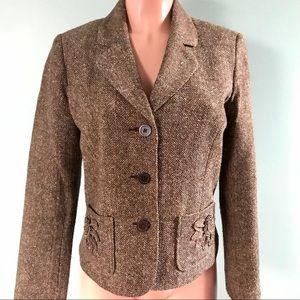 Multi-Color Wool Like Blazer Coat SZ 8 George
